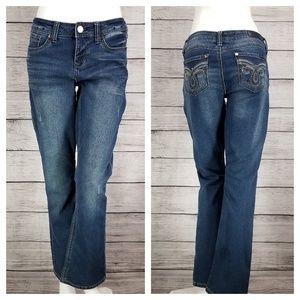 Seven7 Slim Boot Jeans Embellished Distressed 8